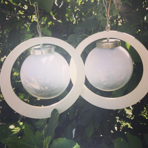 Coppia lampadari anni 70