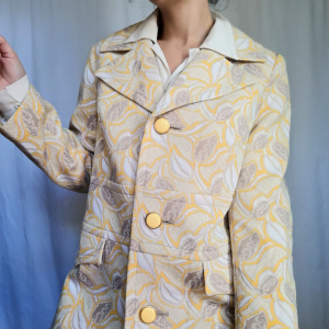 Vintage yellow lemon coat