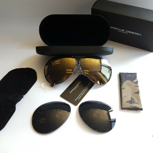New Porsche Design P8478 E 6610 135 Gold Mirror Celebrities Sunglasses Very Rare