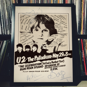 - FRAMED CONCERT POSTER - U2 - May 29, 1981 - The Palladium - New York (NY) - USA