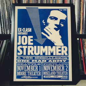 - FRAMED CONCERT POSTER - Joe Strummer - Nov. 1, 1999 - Moore Theatre - Seattle (WA) - USA / Nov. 2, 1999 - Roseland Theater - Portland (OR) - USA