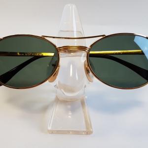 Ray Ban Occhiali da Sole Vintage B&L Signet Oval Gold G15 W1394 Sunglasses USA NOS VTG Very Rare