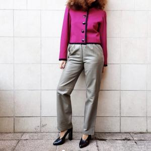 Yves Saint Laurent jacket , fuchsia wool , sz 44 1982s