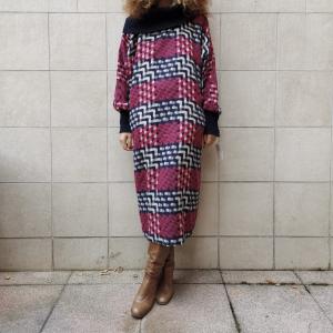 - Maxi dress , multicolor wool blend onesize