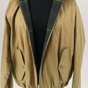 Ralph Lauren Barracuda Giacca Bomber Lined Jacket Luxury Tan Size M/M Polo by RL Vintage Rare