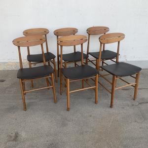 - 6 sedie vintage stile scandinavo