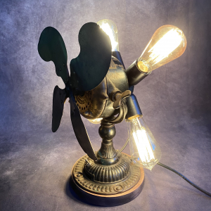RECICLING ART LAMPCON ANTICO  VENTILATORE - INDUSTRIAL STYLE
