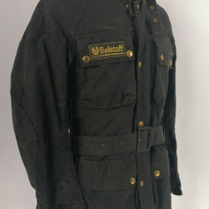BELSTAFF 70s Trialmaster Professional Giacca in Cotone Cerato Motorcycle WAXED Jacket True Vintage #8