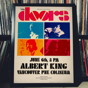 - FRAMED CONCERT POSTER - The Doors, Albert King - June 6, 1970 - PNE Coliseum- Canada