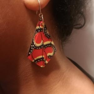 - African waxprint plexiglass  earrings