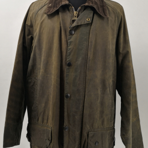 - BARBOUR BEAUFORT CLASSIC VINTAGE 80s/90s WAXED JACKET GREEN COLOR SIZE C40 102CM GRADE B CONDITION