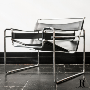 - Model B3 Wassily Lounge Chairs by Marcel Breuerper Gavina, 1960s, Set di 2