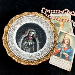 - Piattino da Dolce Vintage Santa Muerte