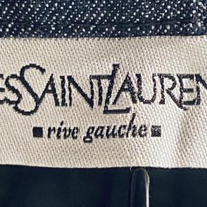 Mini joupe vita alta denim Yves Saint Lauren
