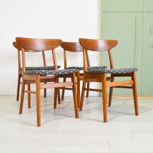 - Quattro sedie danesi anni '60 originali