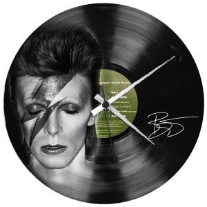 - DAVID BOWIE - OROLOGIO  SU  DISCO VINILE  Disco in vinile con stampa  David Bowie