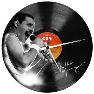 - FREDDY MERCURY - OROLOGIO  SU  DISCO VINILE  Disco in vinile con stampa  Freddy Mercury