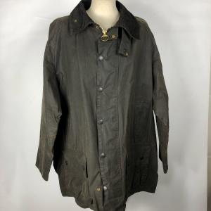 Barbour Giacca Beaufort Nero Vintage C48/122 cm Taglia XL- Black waxed cotton Jacket