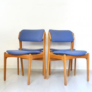 Quattro sedie danesi Model 49 anni '60